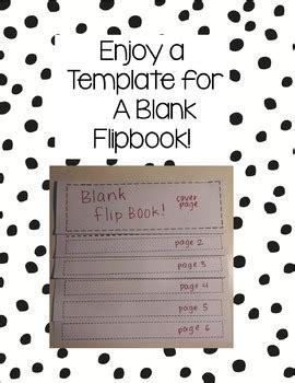 Blank Flipbook Template By Mme Suzanne Teachers Pay Teachers Flip Book Templates For Teachers