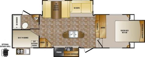 5th Wheel Floor Plans by 2014 Crossroads Sunset Trail 28bh