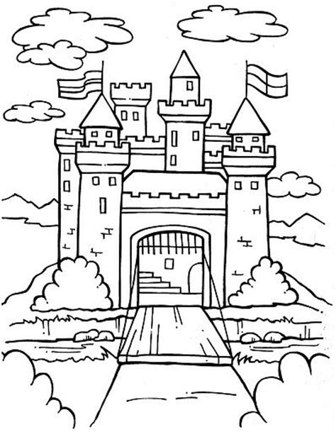 castle moat coloring page 121 best castles and such images on pinterest coloring