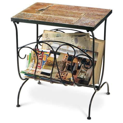 living room magazine holder slate top magazine rack 134659 living room at sportsman s guide