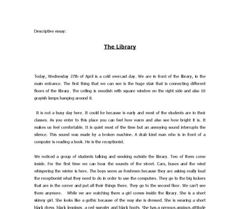 sle of descriptive essay about a place 28 images sle