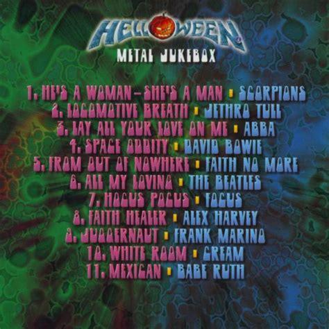 Kaset Helloween Metal Jukebox car 225 tula interior frontal de helloween metal jukebox portada