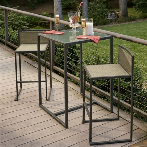 garden oasis wallace 3 piece sling high bistro set