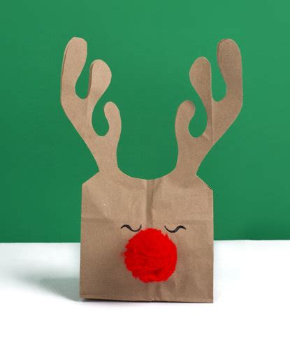 Paper Bag Reindeer Craft - 8 diy gift bags real simple