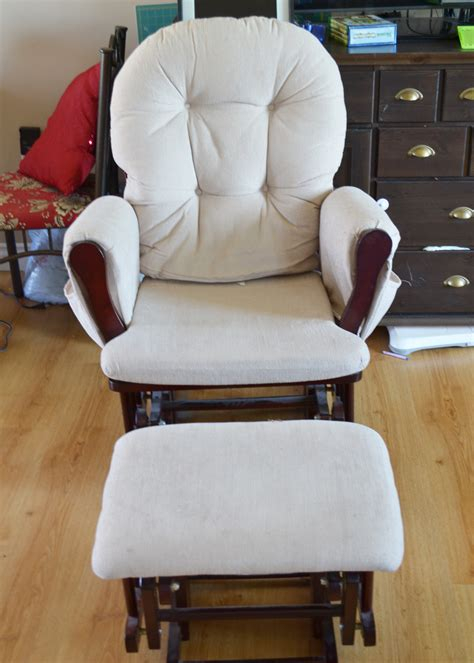 custom slipcover for your pb dream rocker with wooden rocking chair and ottoman cover chairs seating