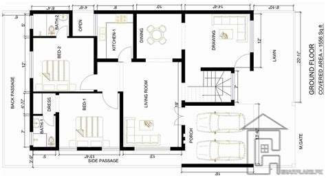 drawing of house map 3 marla house map gharplans pk drawing arts sketch