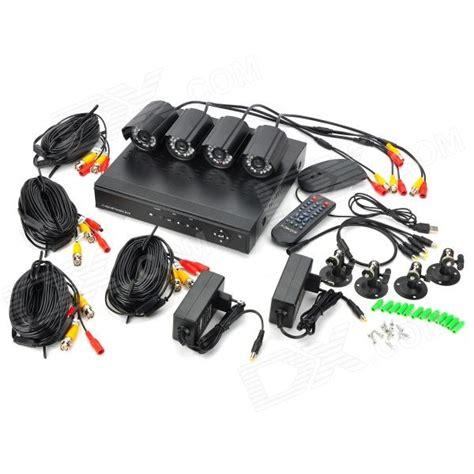 Vga P104 kit p104 4 ch d1 real time network cctv dvr security system w 4 x ir cameras black pal