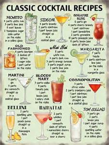 cocktail recipes metal wall tin sign plaque joke vintage style present cocktail recipes kitchen home bar