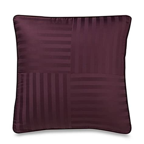 european bed pillows wamsutta 174 damask stripe purple european pillow bed bath beyond