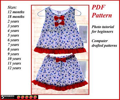pattern sewing pdf angelina girls shorts pattern free mother daughter apron