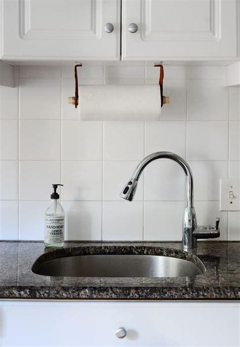 diy paper towel dispenser easy diy leather paper towel holder
