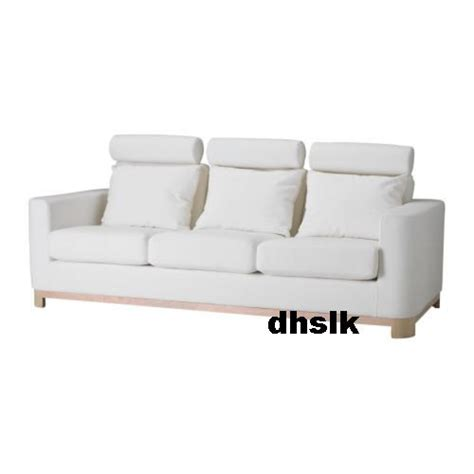 white slipcovered sofa ikea ikea s 196 len salen 3 seat sofa slipcover cover saganas white