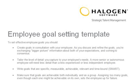 goal setting template for employees employee goal setting template toolkit