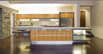 bamboo kitchen design bamboo accented modern kitchen interior design ideas
