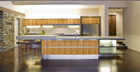bamboo kitchen design bamboo accented modern kitchen interior design ideas