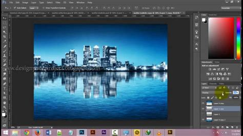 tutorial photoshop reflection effect how to make water reflection effect photoshop bangla