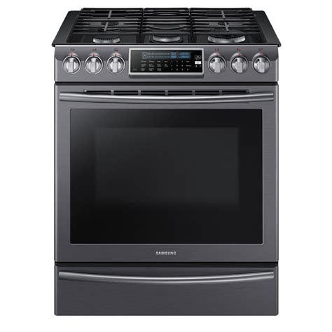 stainless steel appliances stainless steel stove shop samsung 5 burner 5 8 cu ft slide in convection gas