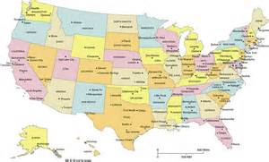 united states map with major cities map of the united states with major cities