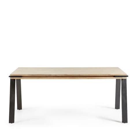 table a manger en bois design table 224 manger design industriel bois massif et m 233 tal spike by drawer