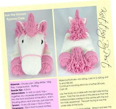 unicorn pattern sewing free unicorn pyjama case knitting pattern by knitting by post