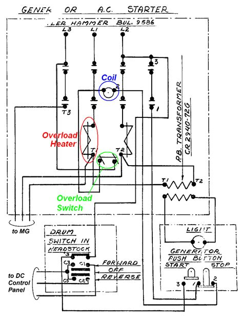 3 phase contactor wiring diagram start stop wiring