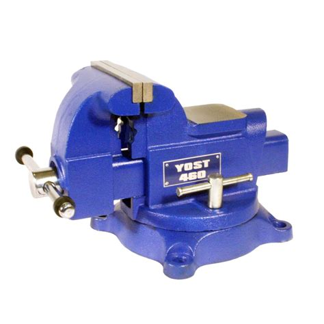 lowes bench vise shop yost 6 in cast iron heavy duty apprentice series utility bench vise at lowes com