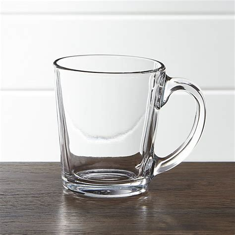 Modern Mug tempo clear glass coffee mug crate and barrel