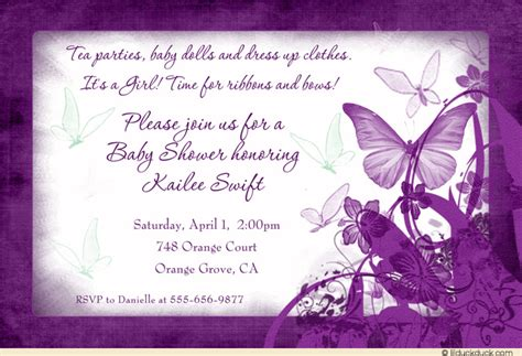 Butterfly Baby Shower Invitations Printable Free by Purple Butterfly Baby Shower Invitations Iidaemilia