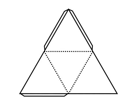 Tetrahedron Template pattern for tetrahedron clipart etc