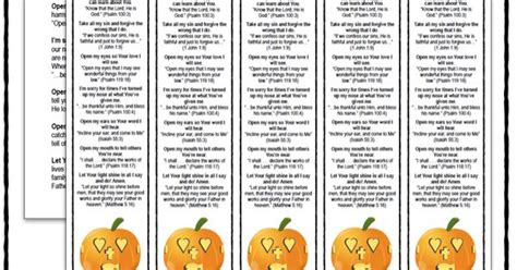printable pumpkin bookmarks the pumpkin prayer bookmarks and lesson printable