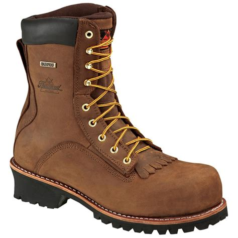 mens composite toe work boots s thorogood 174 8 quot waterproof composite toe loggers