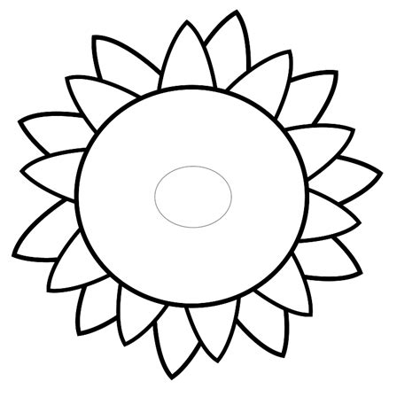 sunflower template printable clipart best