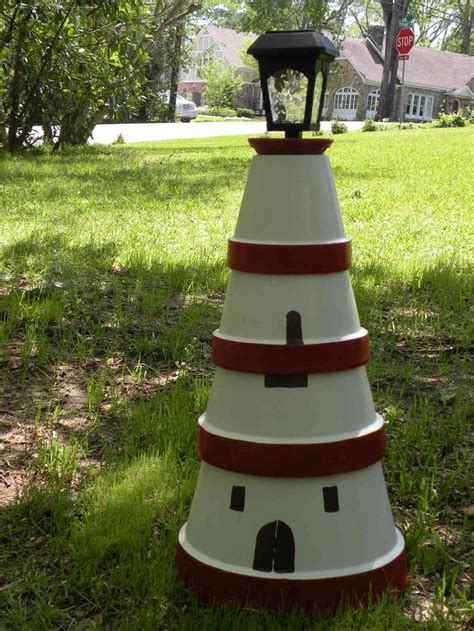 lighthouse craft project clay pot lighthouse for the home clay pots