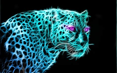 Glowing Animals glowing leopard by silentmarket on deviantart