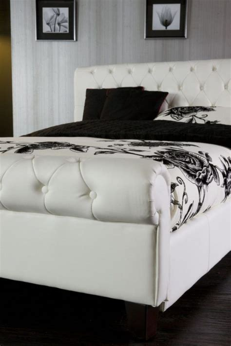 best 25 leather bed frame ideas on white