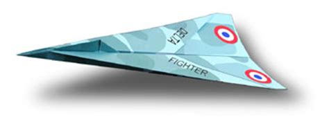 How To Make Paper Look Fast - delta fighter paper airplane