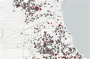 chicago violence map where shootings occurred in chicago since 2010 map