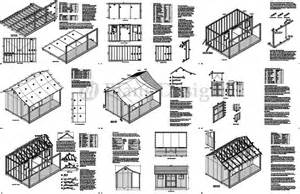 Free House Plans With Material List 12 X 16 Shed With Porch Pool House Plans P81216 Free