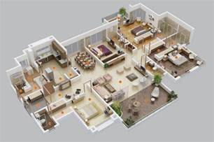 Apartment Layout 4 Bedroom Apartment House Plans