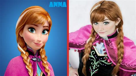 frozen film real life frozen real life characters youtube