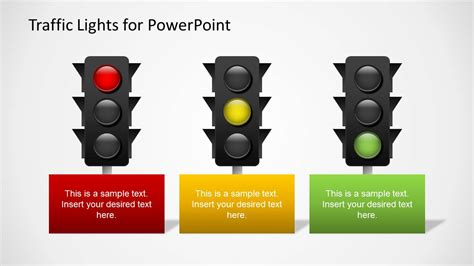 traffic light template traffic lights powerpoint template slidemodel