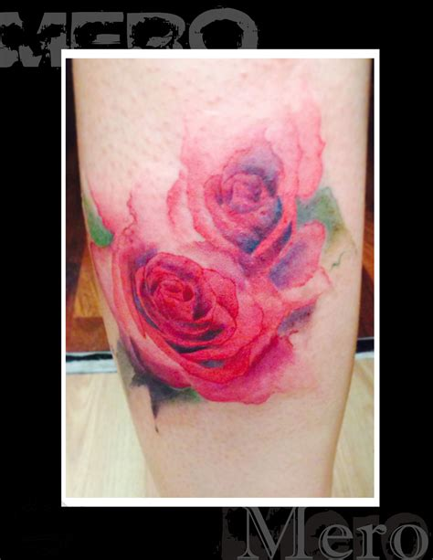 cluster of roses tattoo mero water color cluster rosery color roses