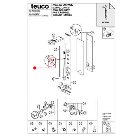 ricambi saliscendi doccia ricambio supporto doccia saliscendi p546 teuco 81002819020