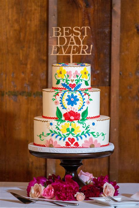 Mexican Wedding Gift Registry by Traditional Mexican Colorful Wedding Cake Design