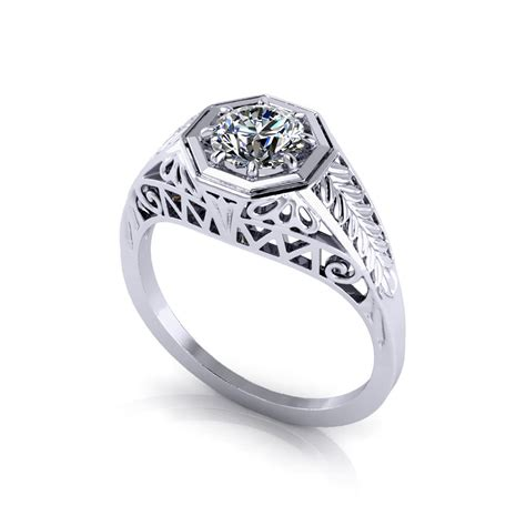 Deco Engagement Rings by Vintage Deco Engagement Ring Jewelry Designs