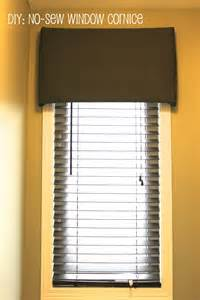 No Sew Cornice Km Decor Diy No Sew Window Cornice