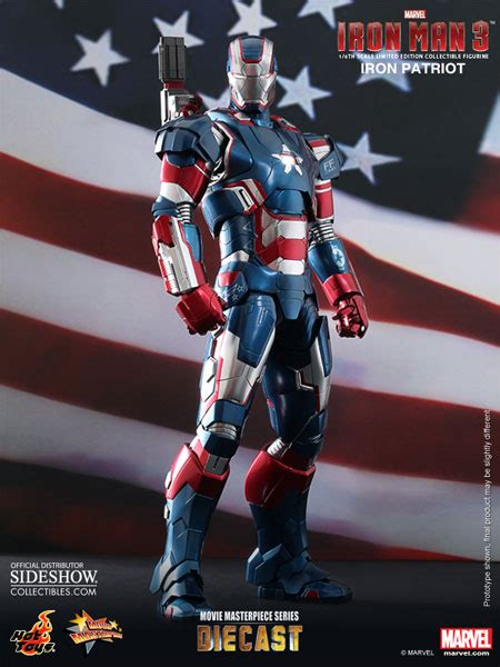 Ironman Patriot Marvel marvel iron patriot sixth scale figure by toys sideshow collectibles