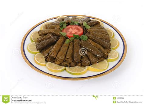 and rice food lebanese food of stuffed grape and rice decorated stock photos image 16915733