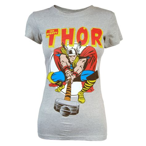 Thor Tsirt freeze the mighty thor t shirt grey freeze from honcho sfx uk