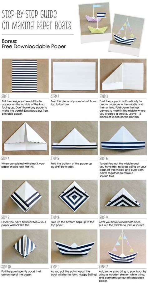 How To Make A Paper Baby - diy paper boats pictures photos and images for